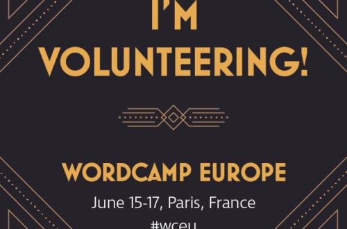 WordCamp Europe 2017 Volunteer Badge