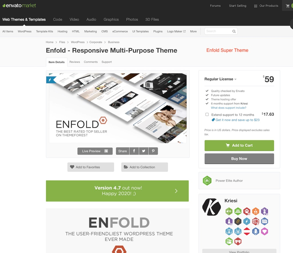 Enfold Super theme
